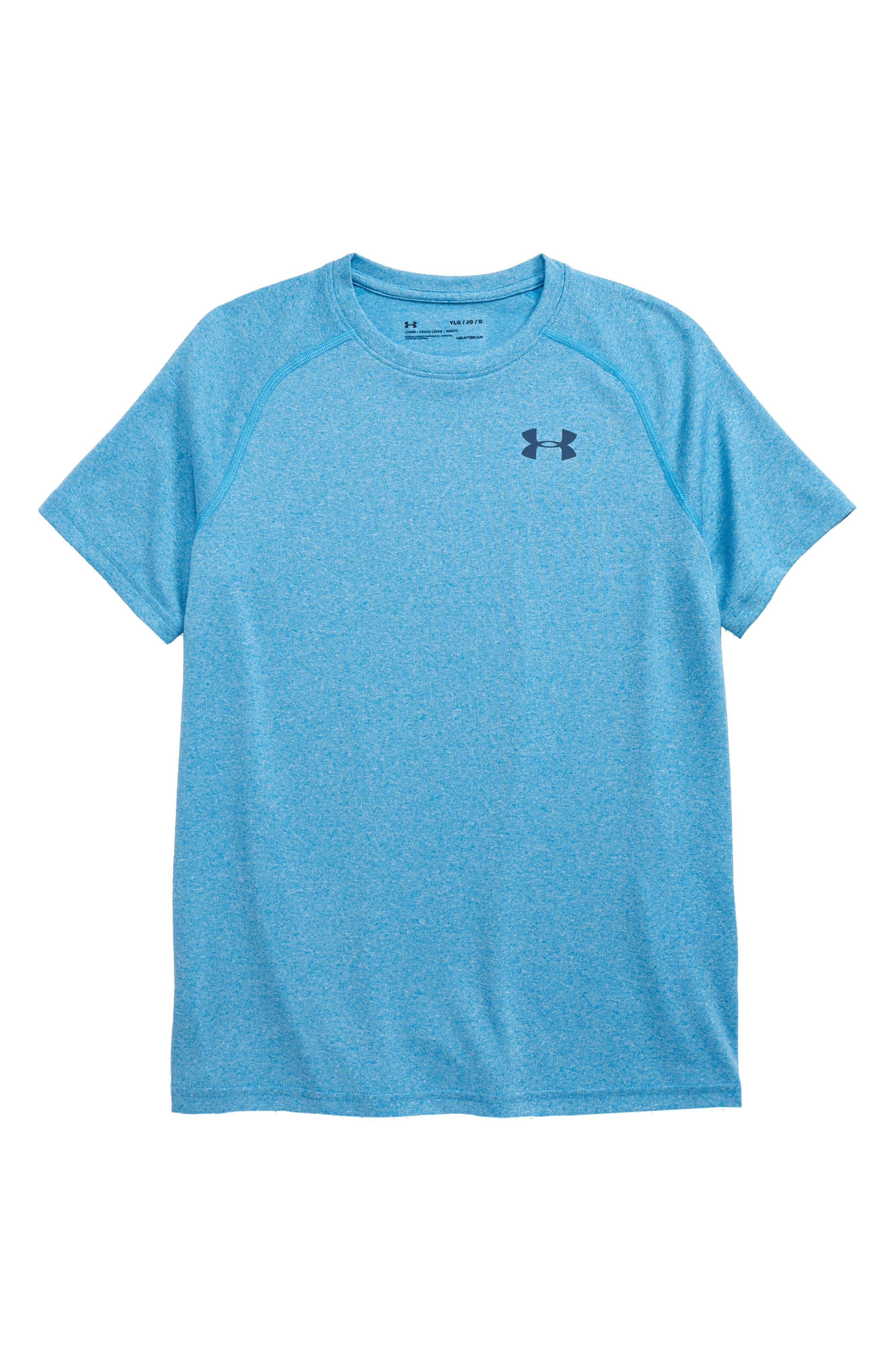 Boys Under Armour Tech Heatgear TShirt Size M (1012)  Blue