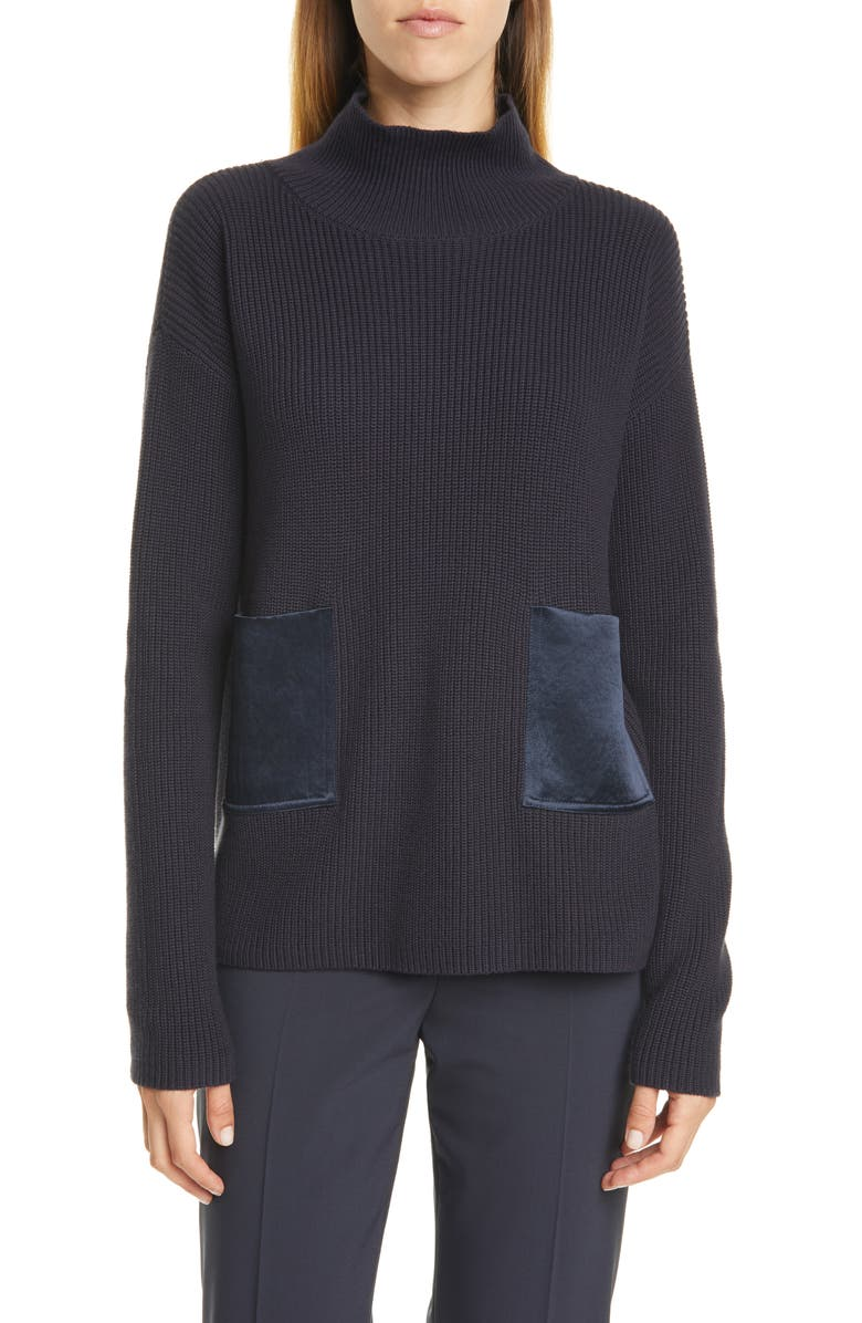 BOSS Faonia Sweater, Main, color, MIDNIGHT