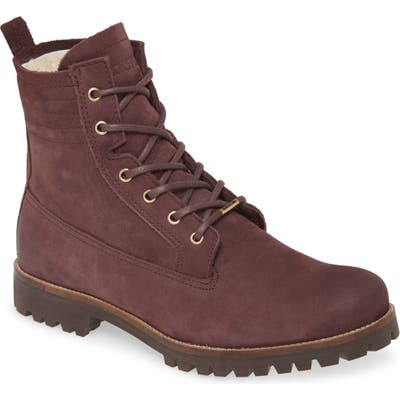 Blackstone Ol22 Lace-Up Boot With Genuine Shearling Lining, Brown