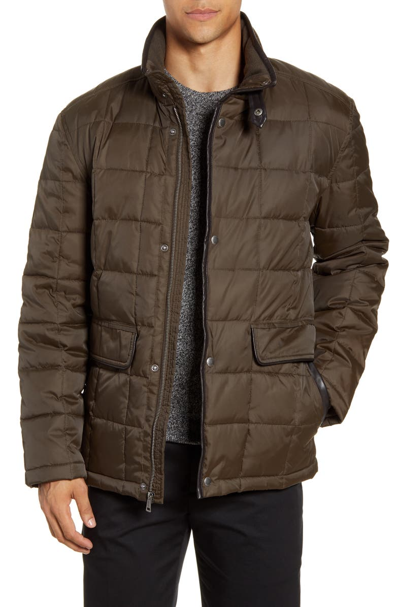 COLE HAAN Box Quilted Jacket, Main, color, 317