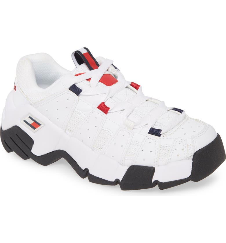 TOMMY JEANS Jawz Sneaker, Main, color, WHITE