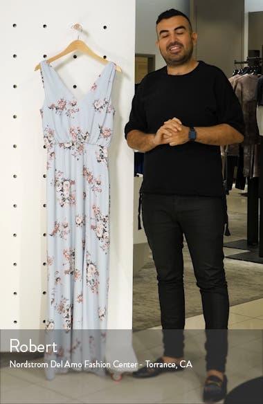The Bella Floral V-Neck Slit Maxi Dress, sales video thumbnail