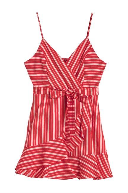 Image of HYFVE Waist Tie Stripe Print Dress