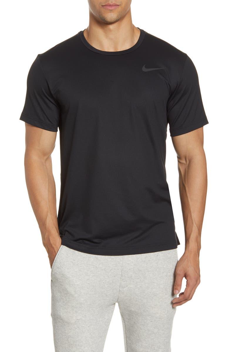 NIKE Pro Dri-FIT Training T-Shirt, Main, color, BLACK