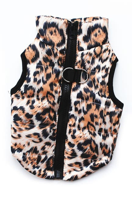 Image of Dogs of Glamour Large Gold Leopard Vest
