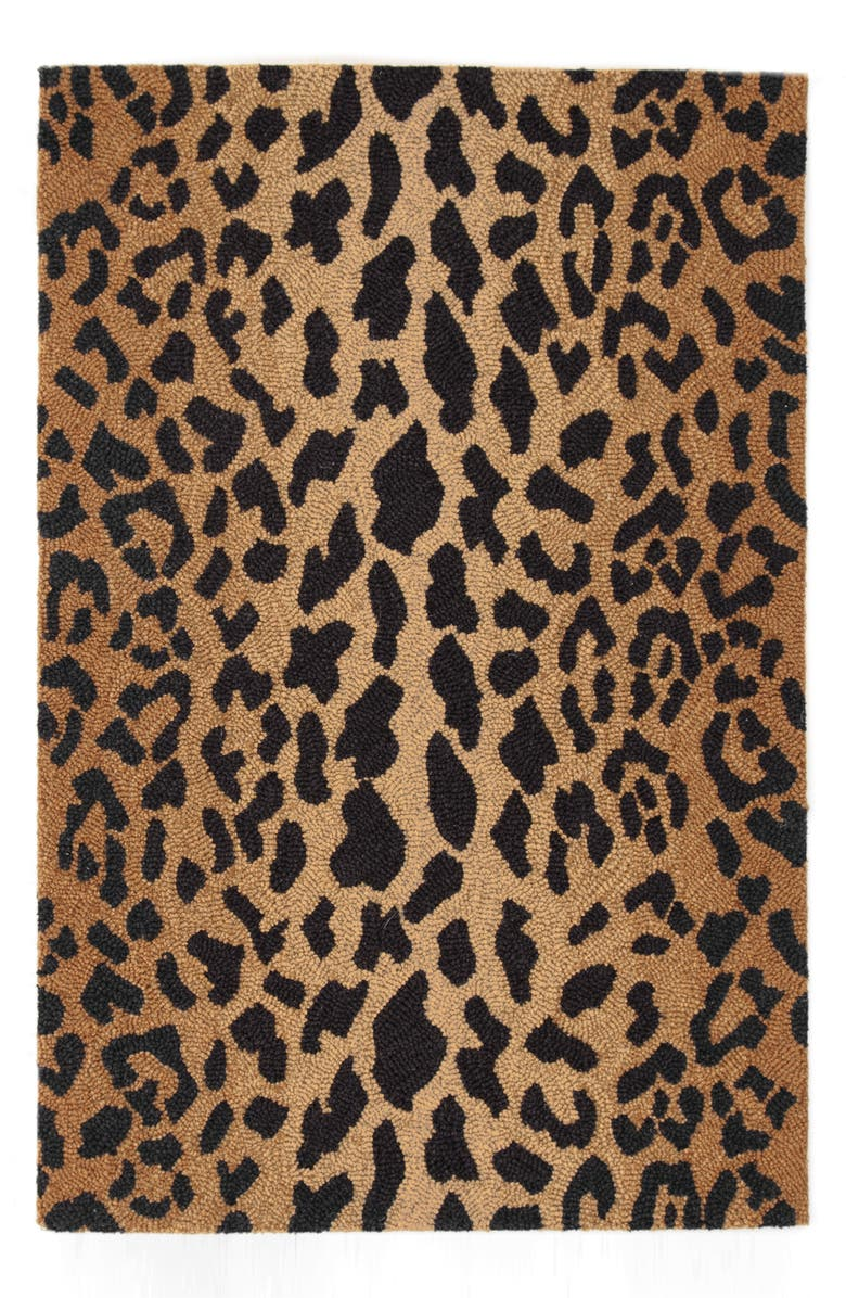 DASH & ALBERT Leopard Print Wool Rug, Main, color, 200