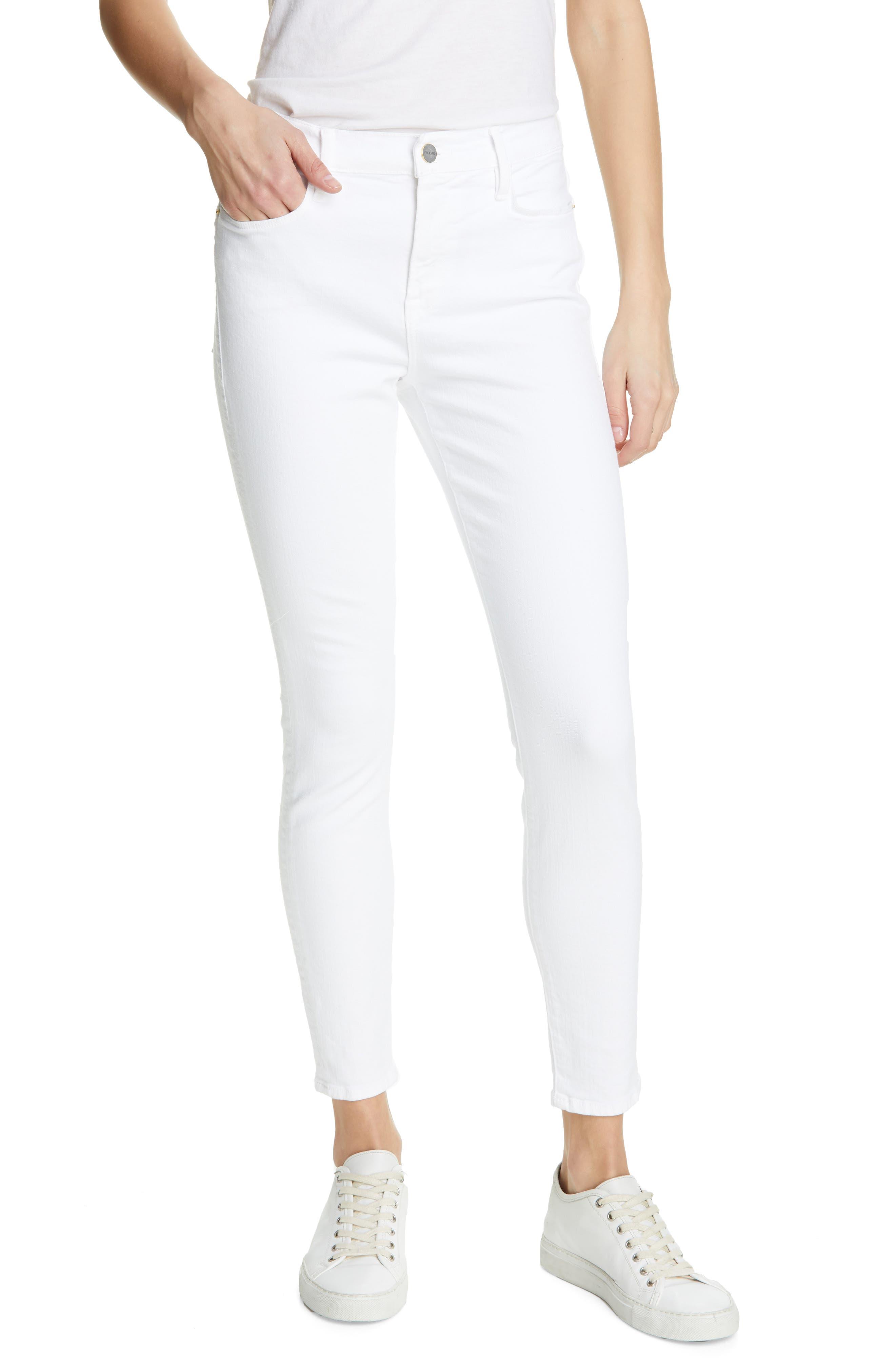 Frame Denims High Waist Ankle Skinny Jeans