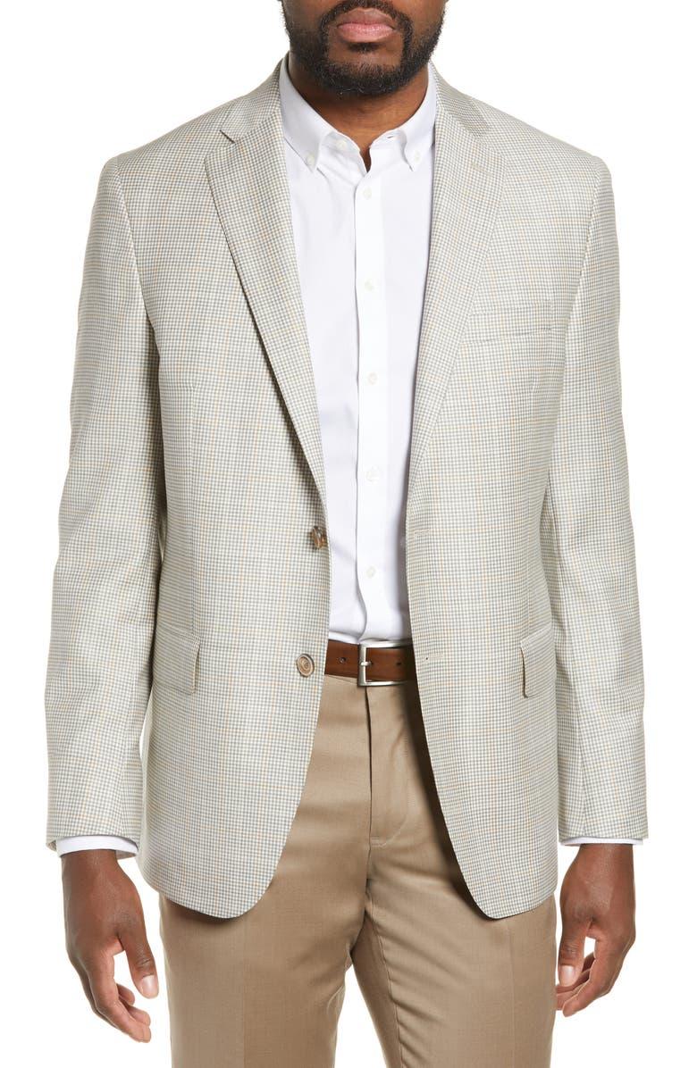 HART SCHAFFNER MARX New York Classic Fit Check Wool Sport Coat, Main, color, 200