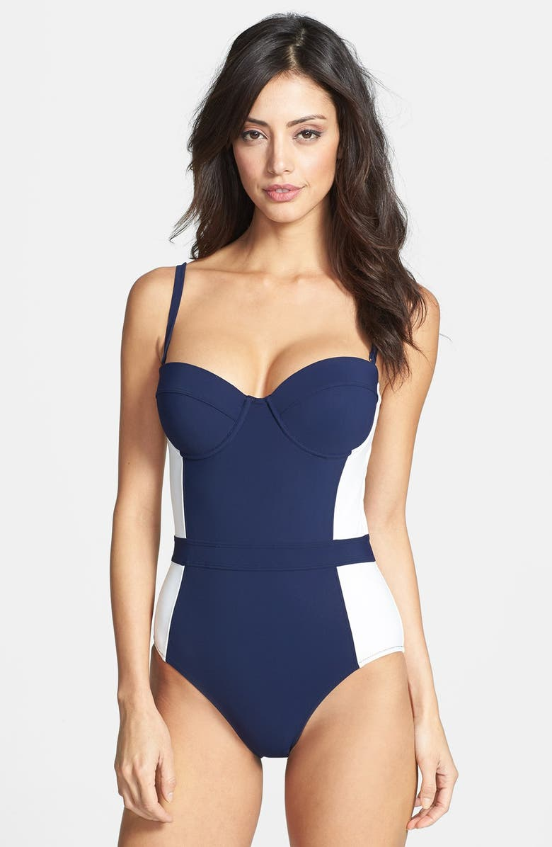 8b8df0d39ef51 Tory Burch 'Lipsi' Colorblock One Piece Swimsuit | Nordstrom