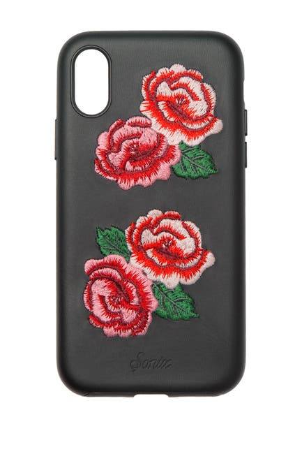 Image of SONIX Embroidered Vegan Leather iPhone X Case