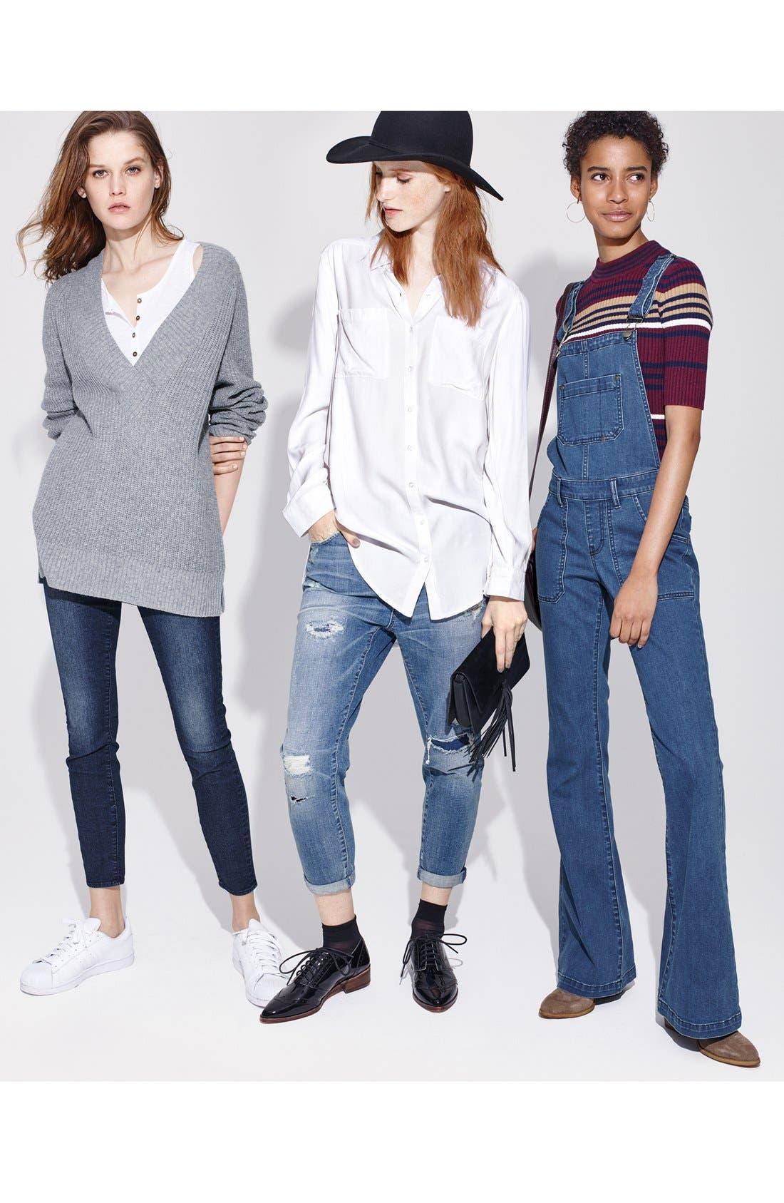 ,                             'Sarah' Skinny Jeans,                             Alternate thumbnail 5, color,                             415