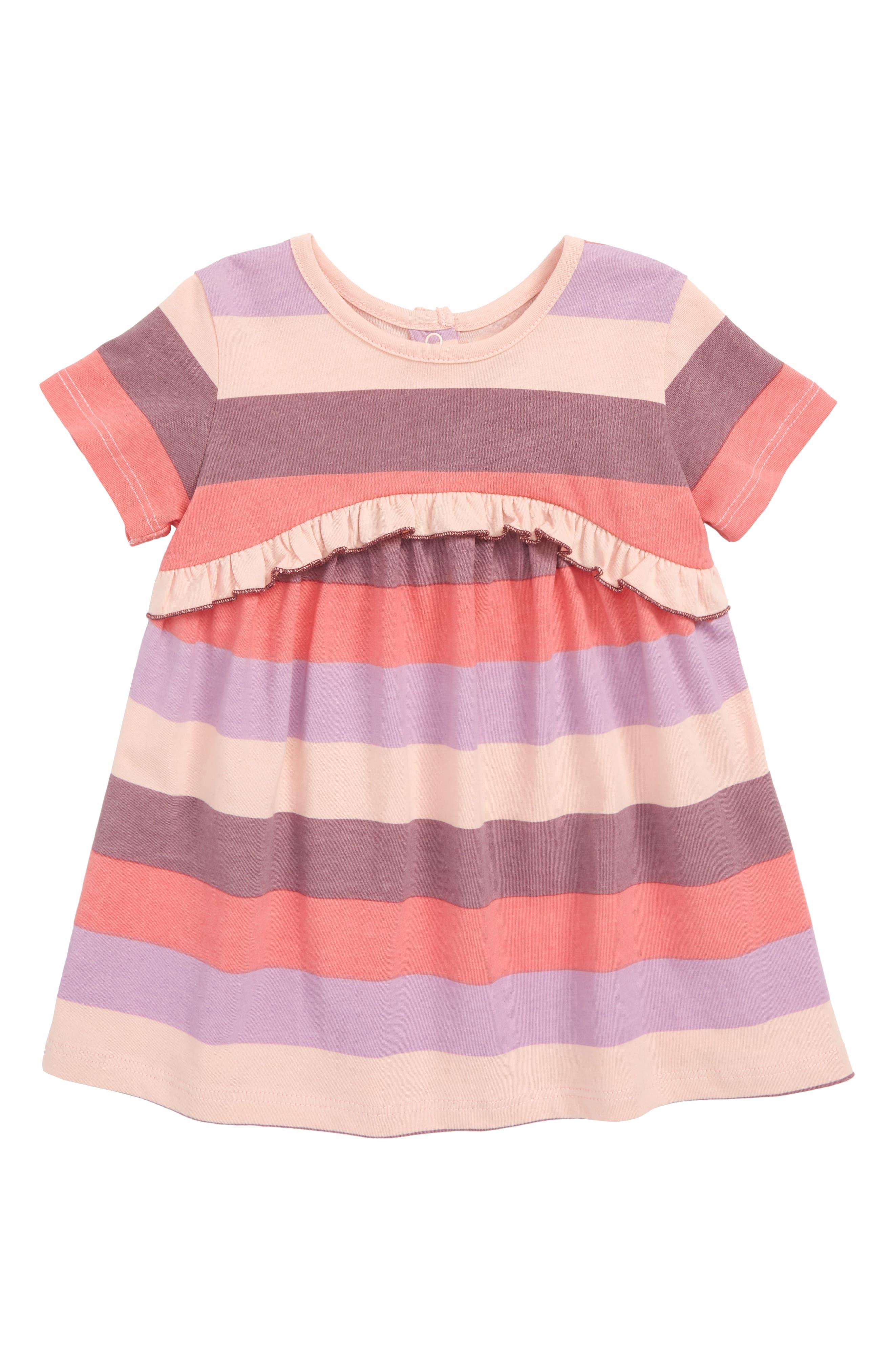 ,                             Peek Khloe Stripe Ruffle Dress,                             Main thumbnail 1, color,                             650