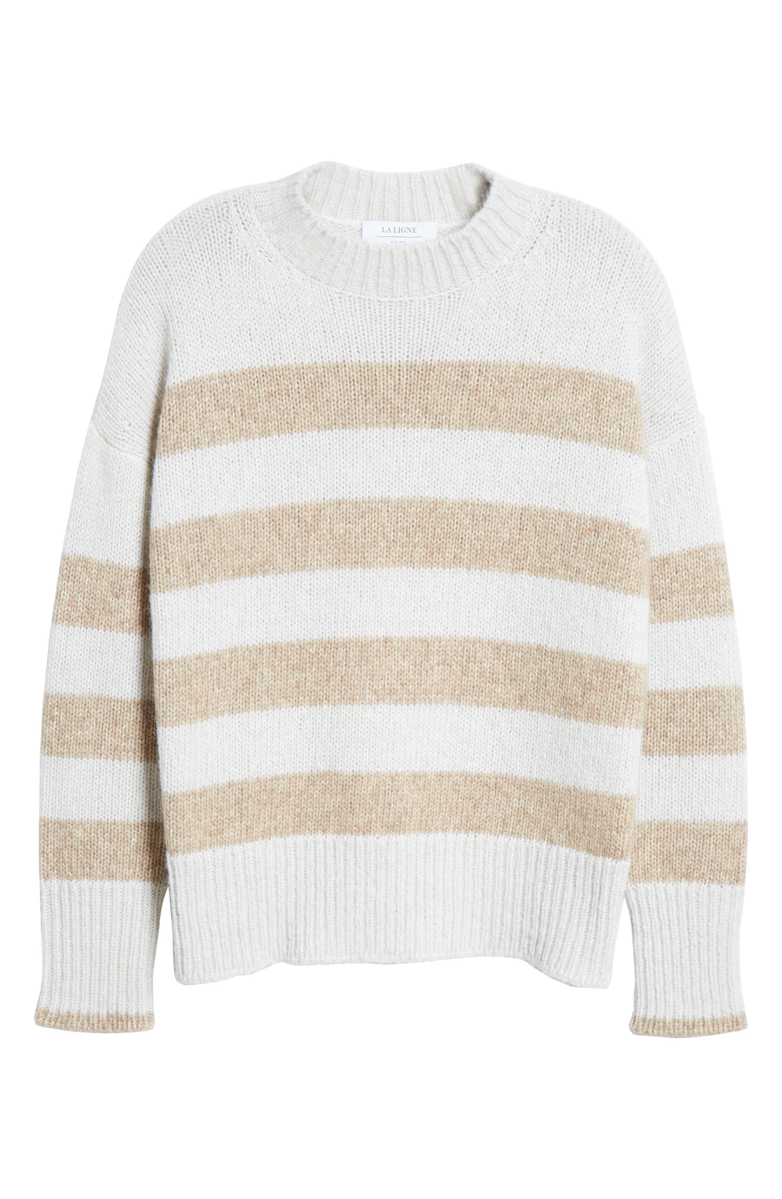 ,                             Soft Bold Marin Sweater,                             Alternate thumbnail 6, color,                             CREAM/ BEIGE