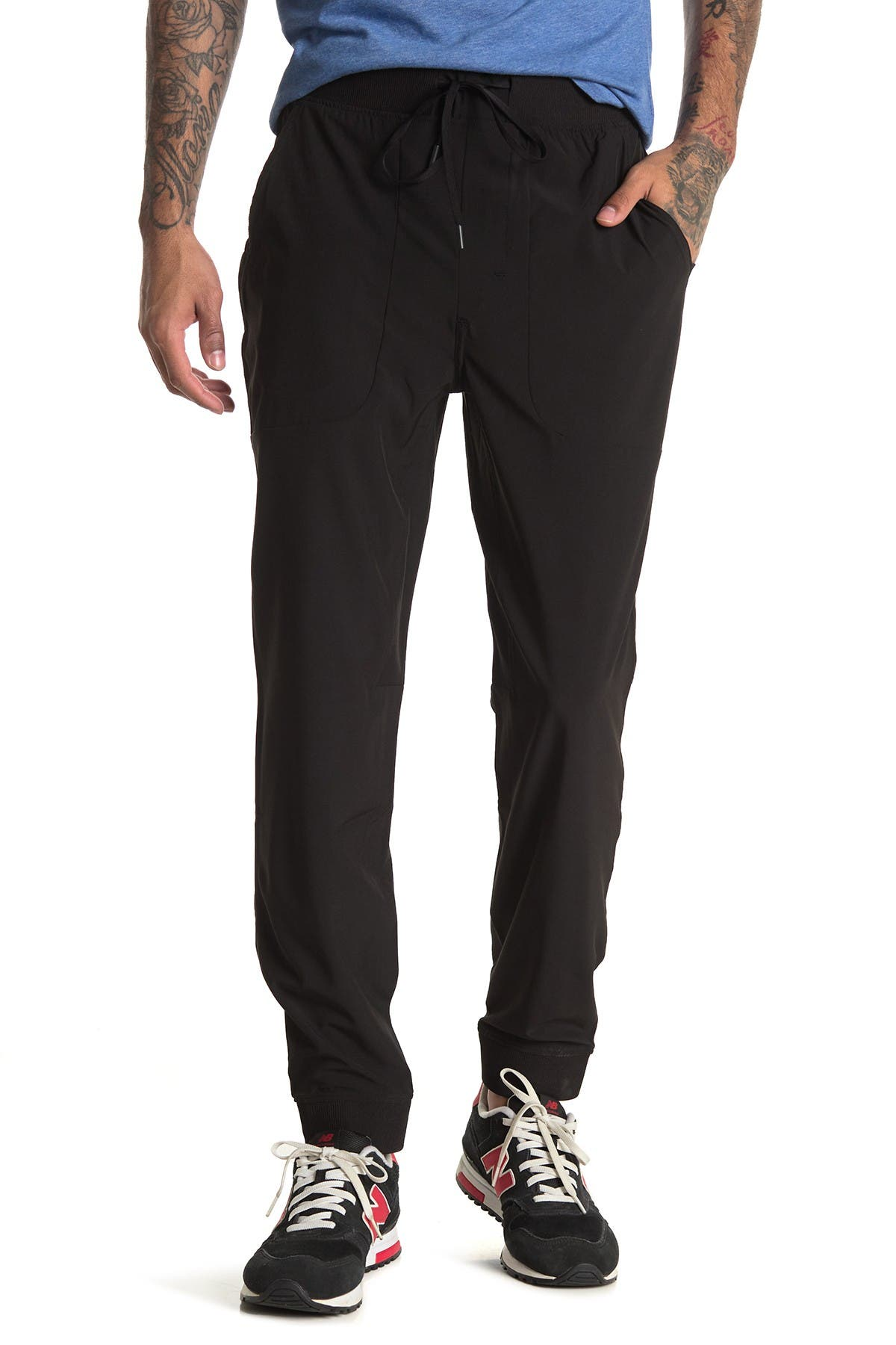 Image of 90 Degree By Reflex Drawstring Woven Jogger Pants