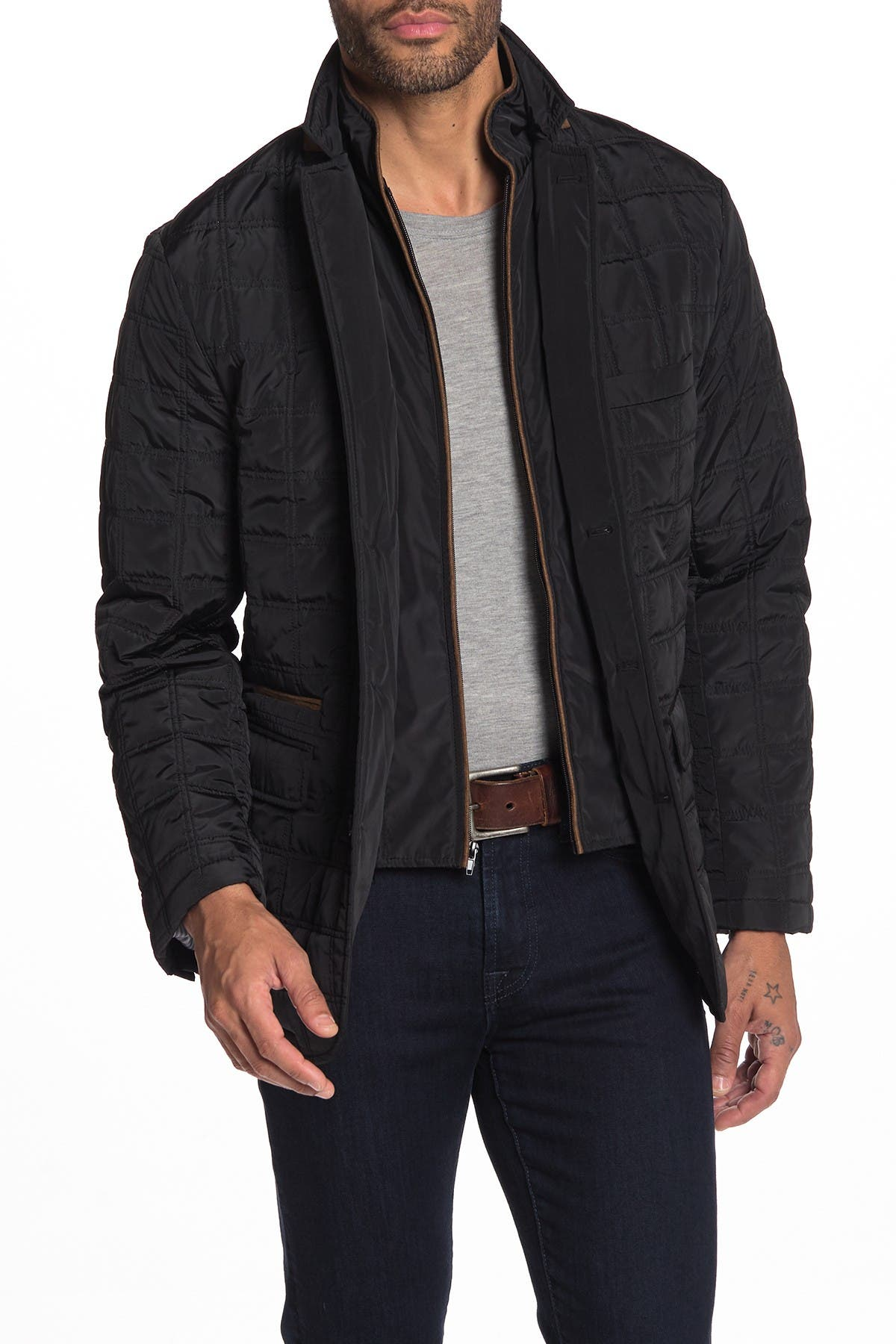 Image of TailorByrd Quilted Elbow Patch Dickey Jacket