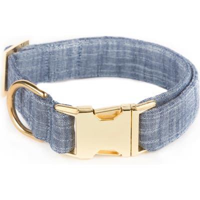 The Foggy Dog Chambray Dog Collar, Blue