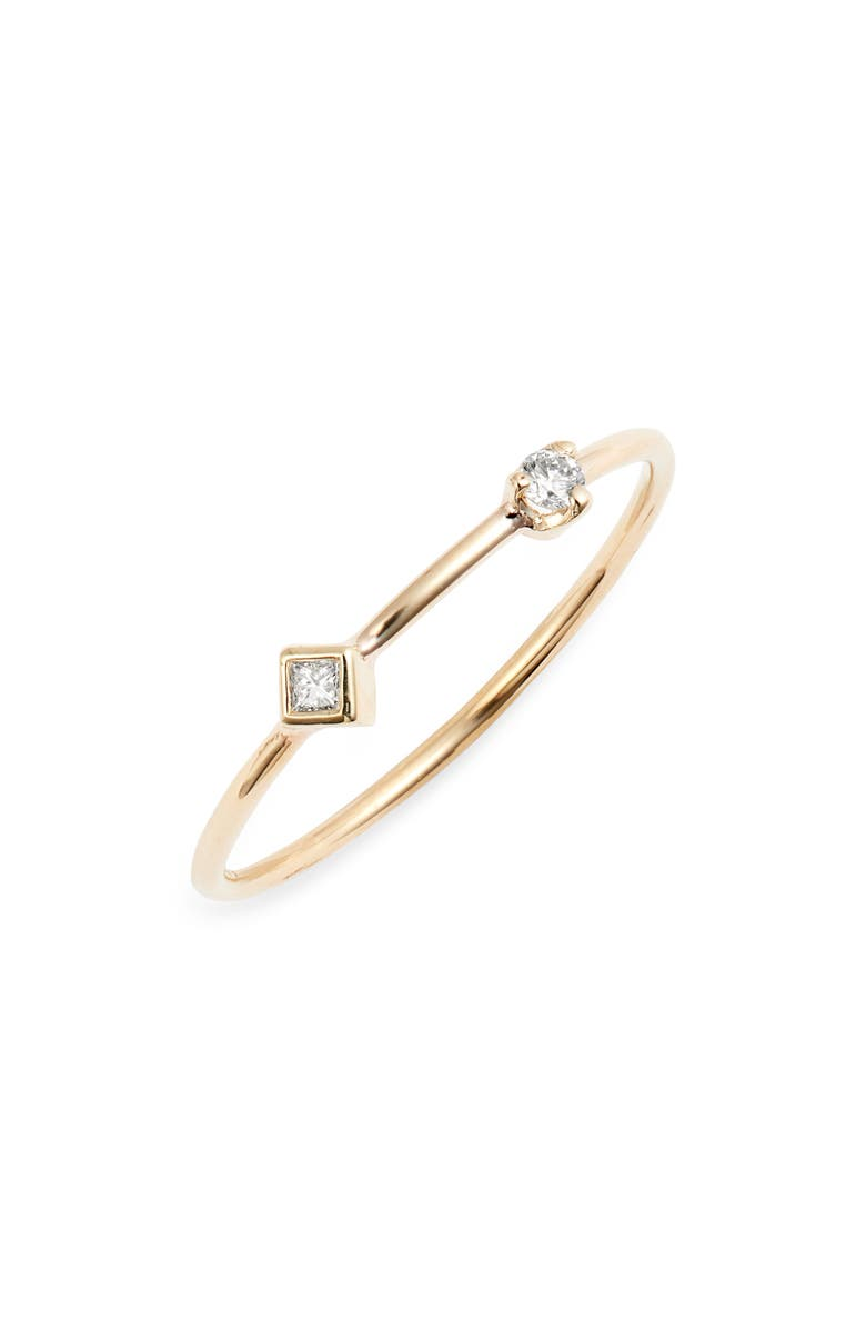ZOË CHICCO Diamond Bezel Ring, Main, color, YELLOW GOLD/ DIAMOND