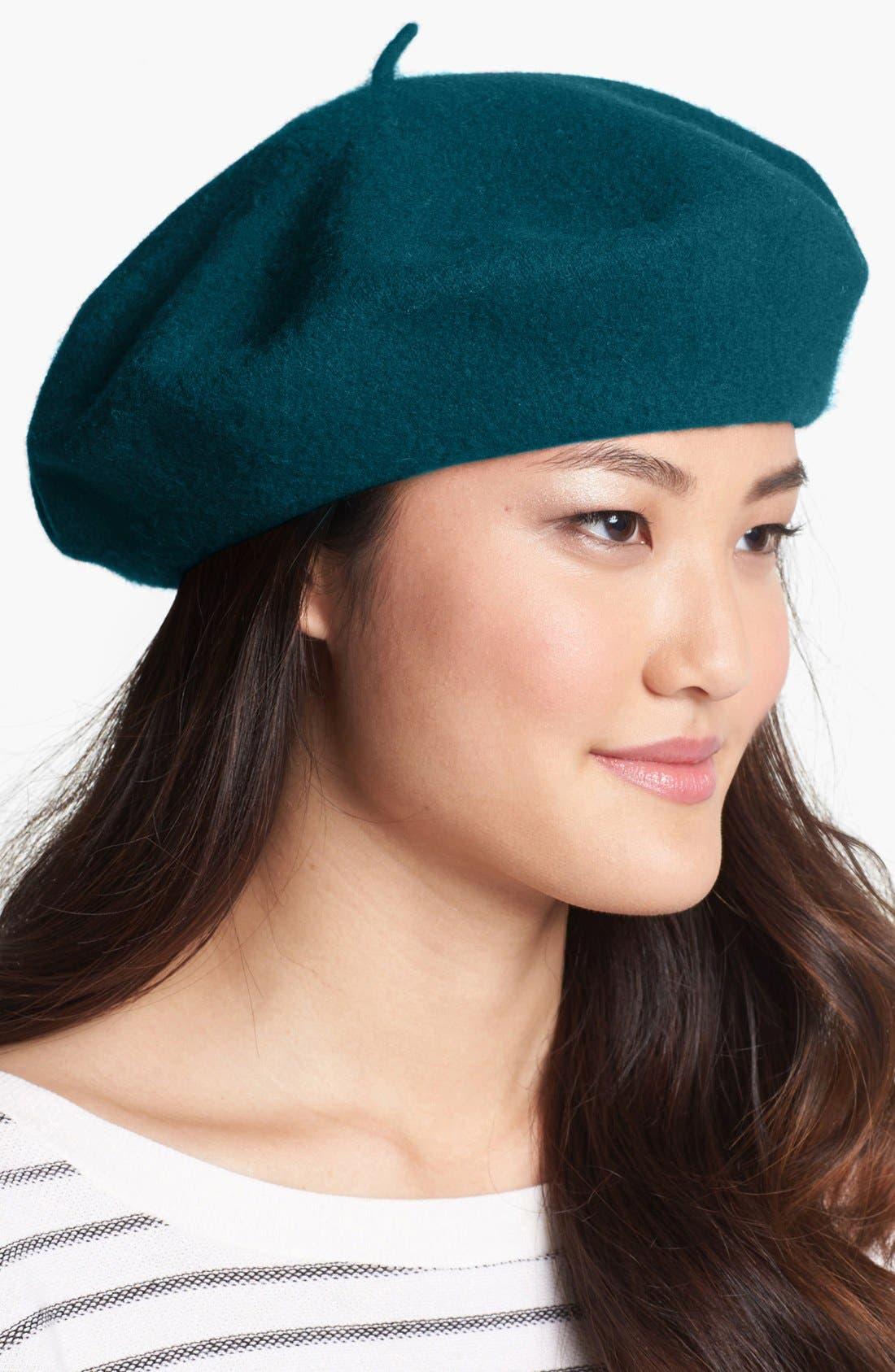 ,                             'Basic' Wool Beret,                             Main thumbnail 8, color,                             343
