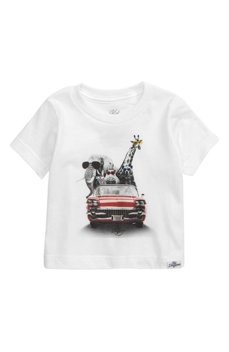 KID DANGEROUS Zoo Mobile Graphic T-Shirt, Main, color, 100