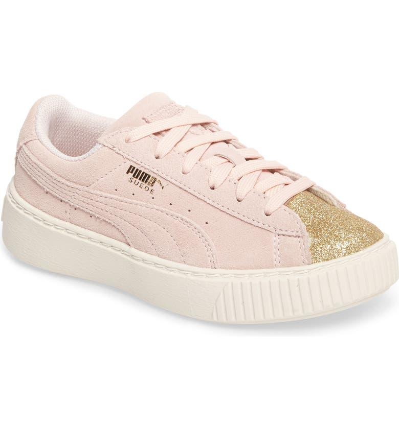 new styles 9b508 32934 PUMA Suede Platform Glam Sneaker (Toddler, Little Kid & Big ...