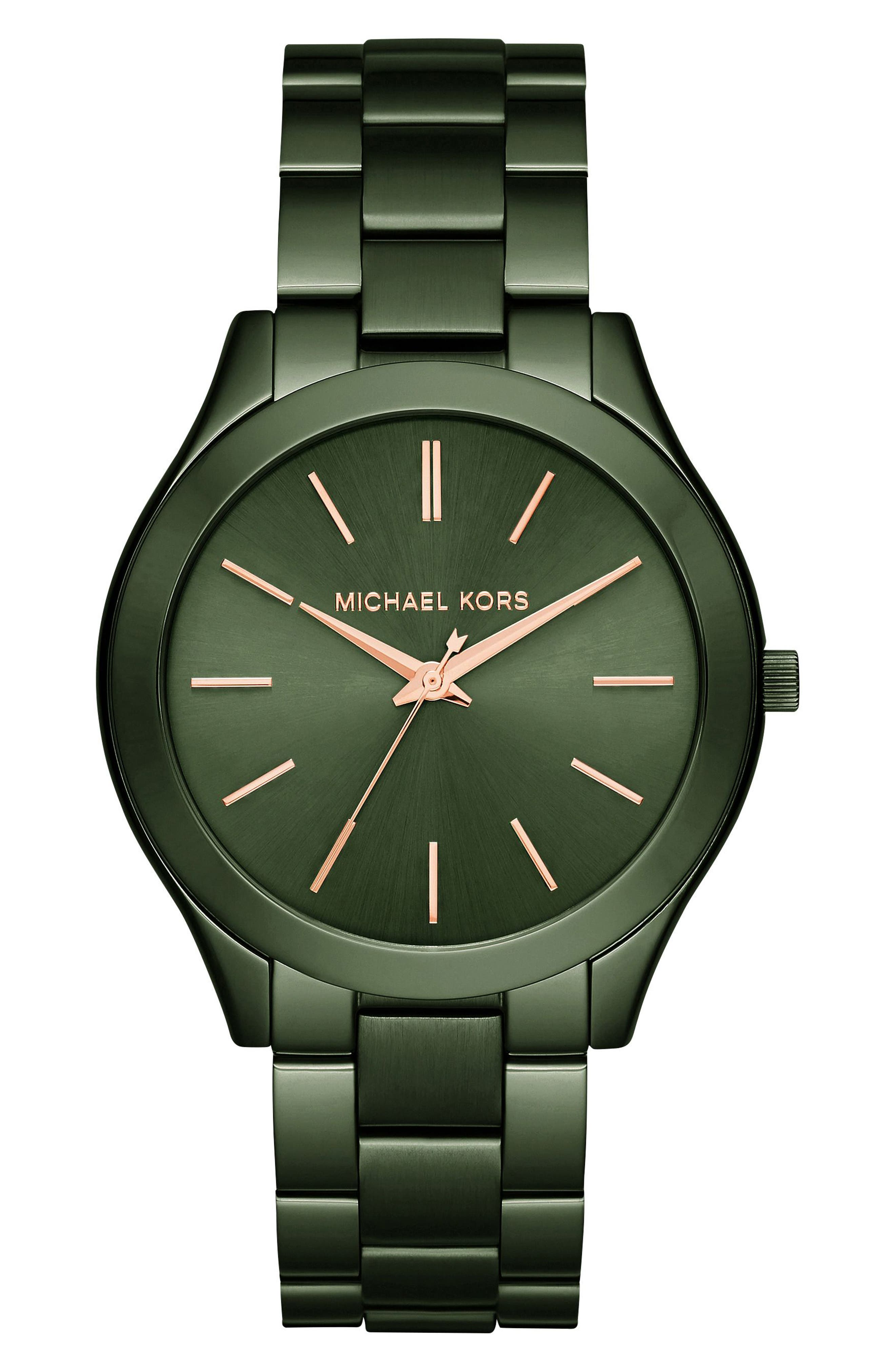 ,                             'Slim Runway' Bracelet Watch, 42mm,                             Main thumbnail 3, color,                             300