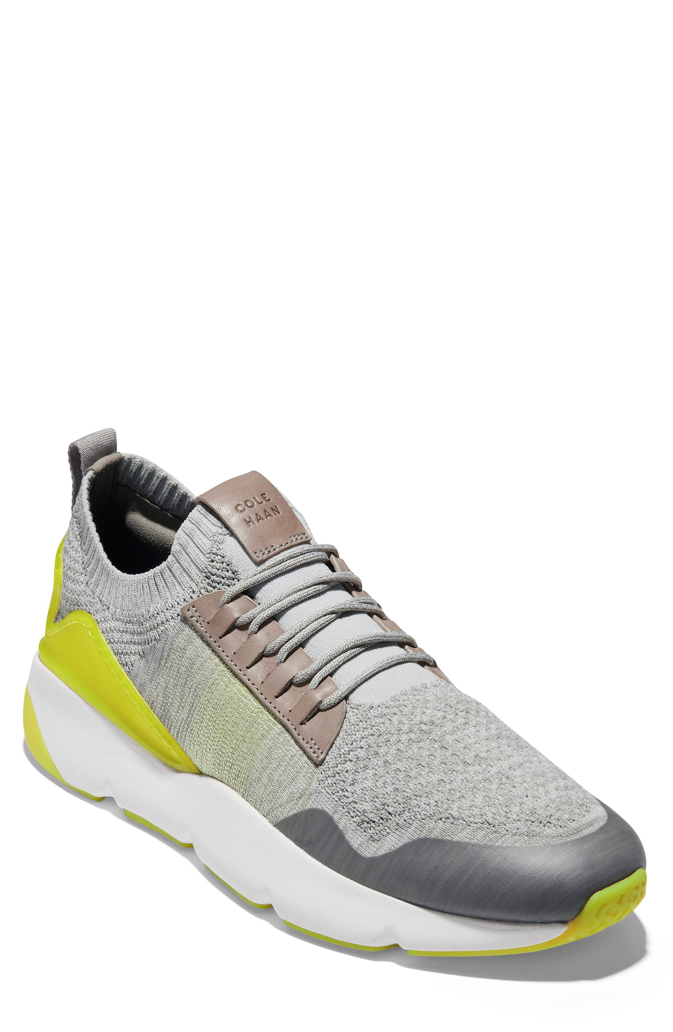 ZeroGrand All-Day Trainer Sneaker, Main, color, BLACK/ IVORY KNIT
