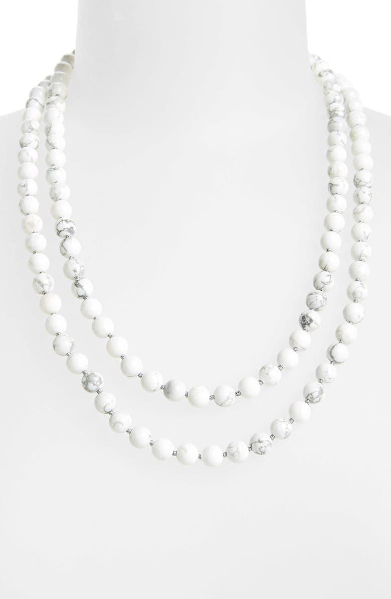 NORDSTROM Long Semiprecious Necklace, Main, color, 100