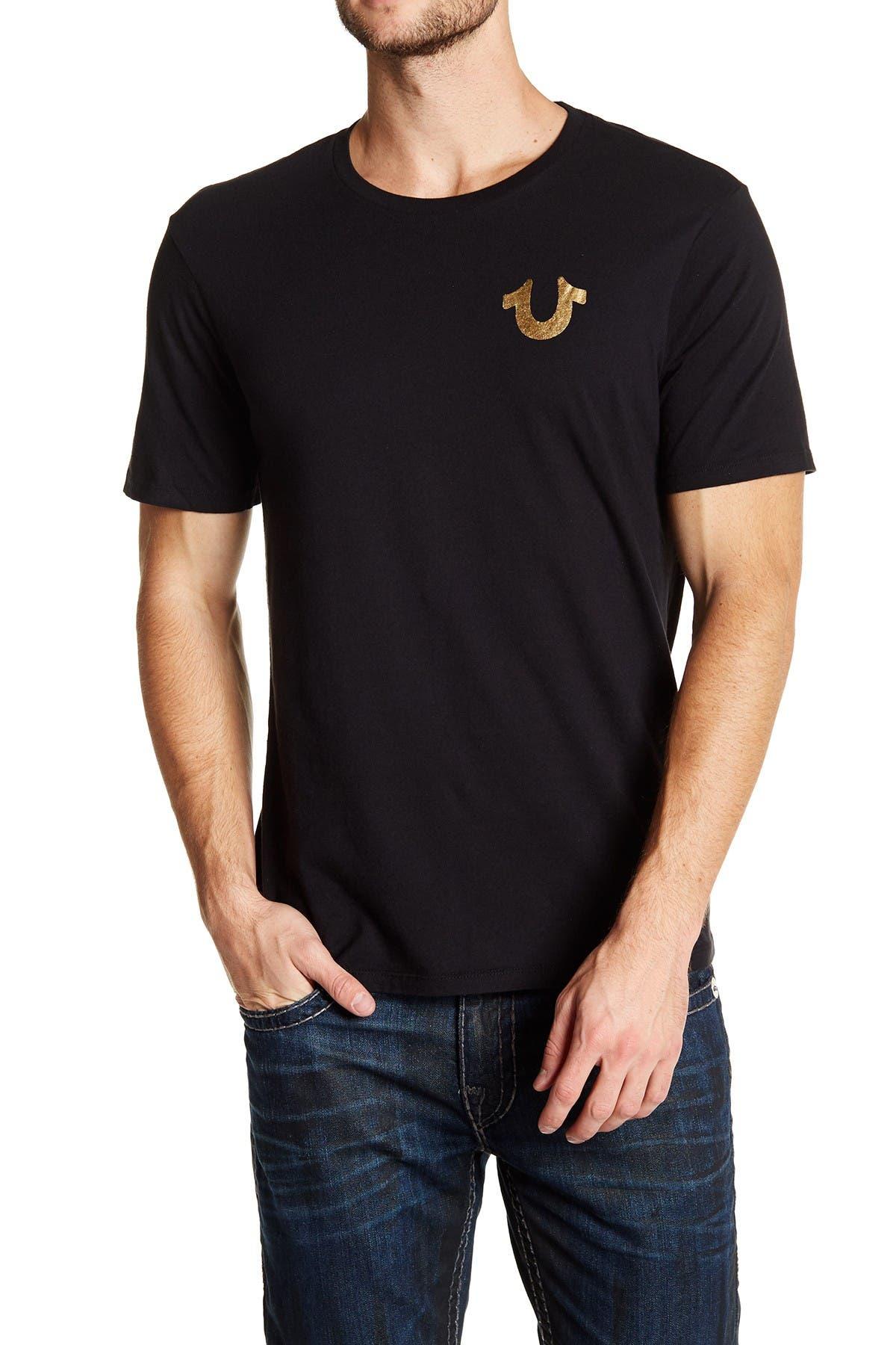 Image of True Religion Buddha Logo Crew Neck Graphic T-Shirt