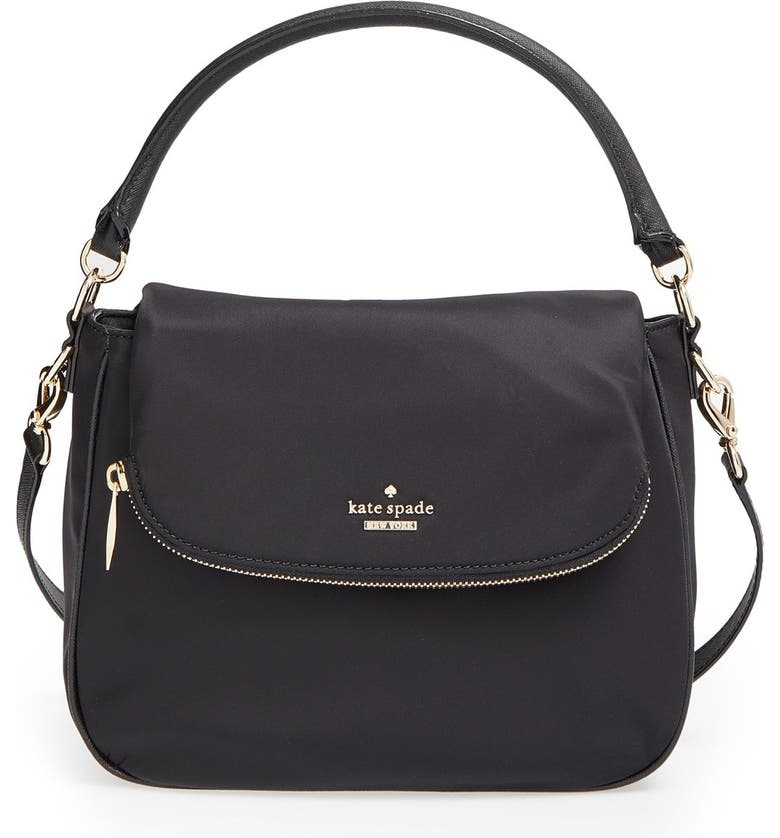 KATE SPADE NEW YORK 'classic nylon - small devin' crossbody bag, Main, color, 001