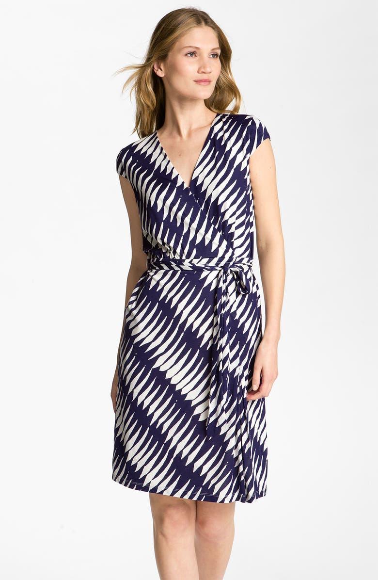 CLASSIQUES ENTIER ATELIER 'Finesse Jersey' Faux Wrap Dress, Main, color, 400