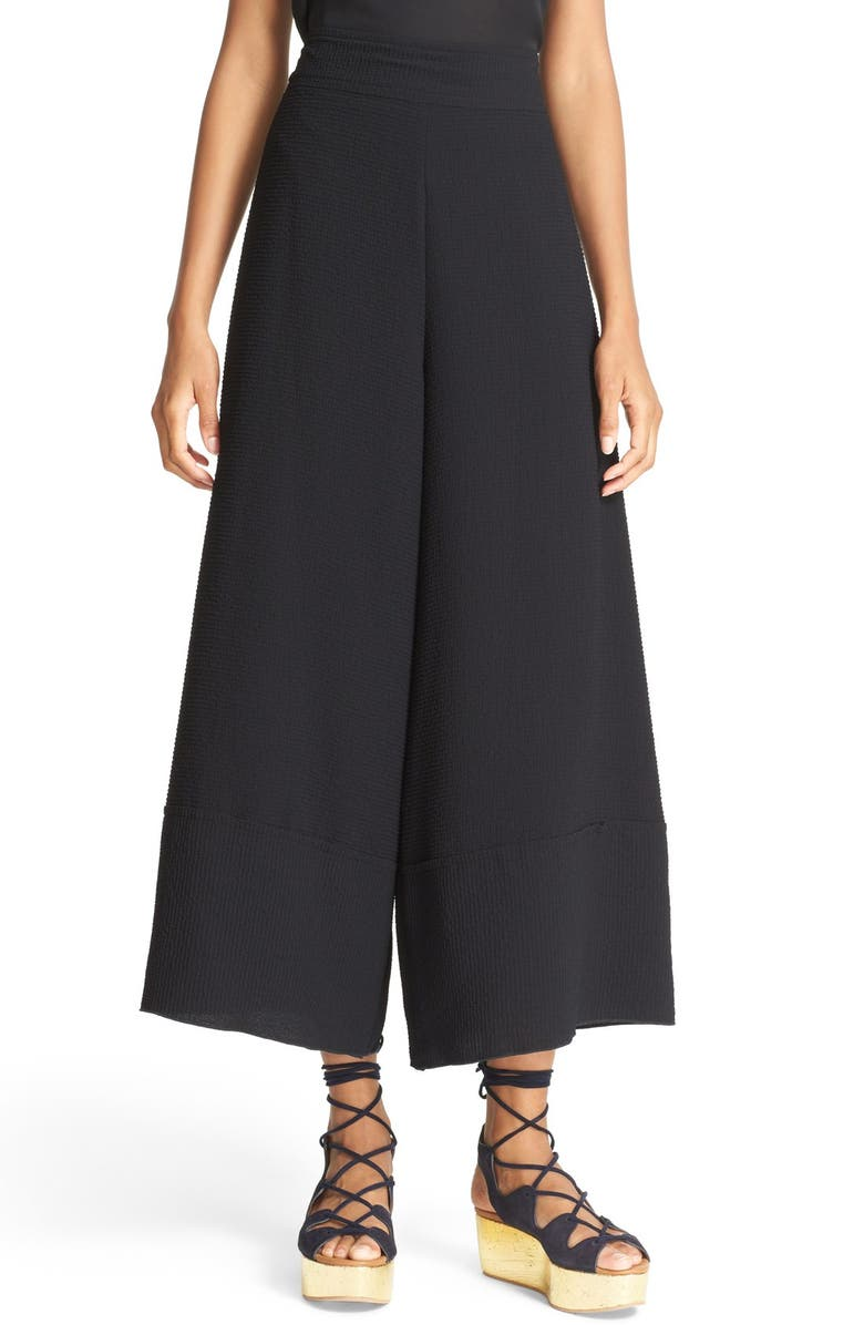 SEE BY CHLOÉ Textured Jacquard Culottes, Main, color, 001