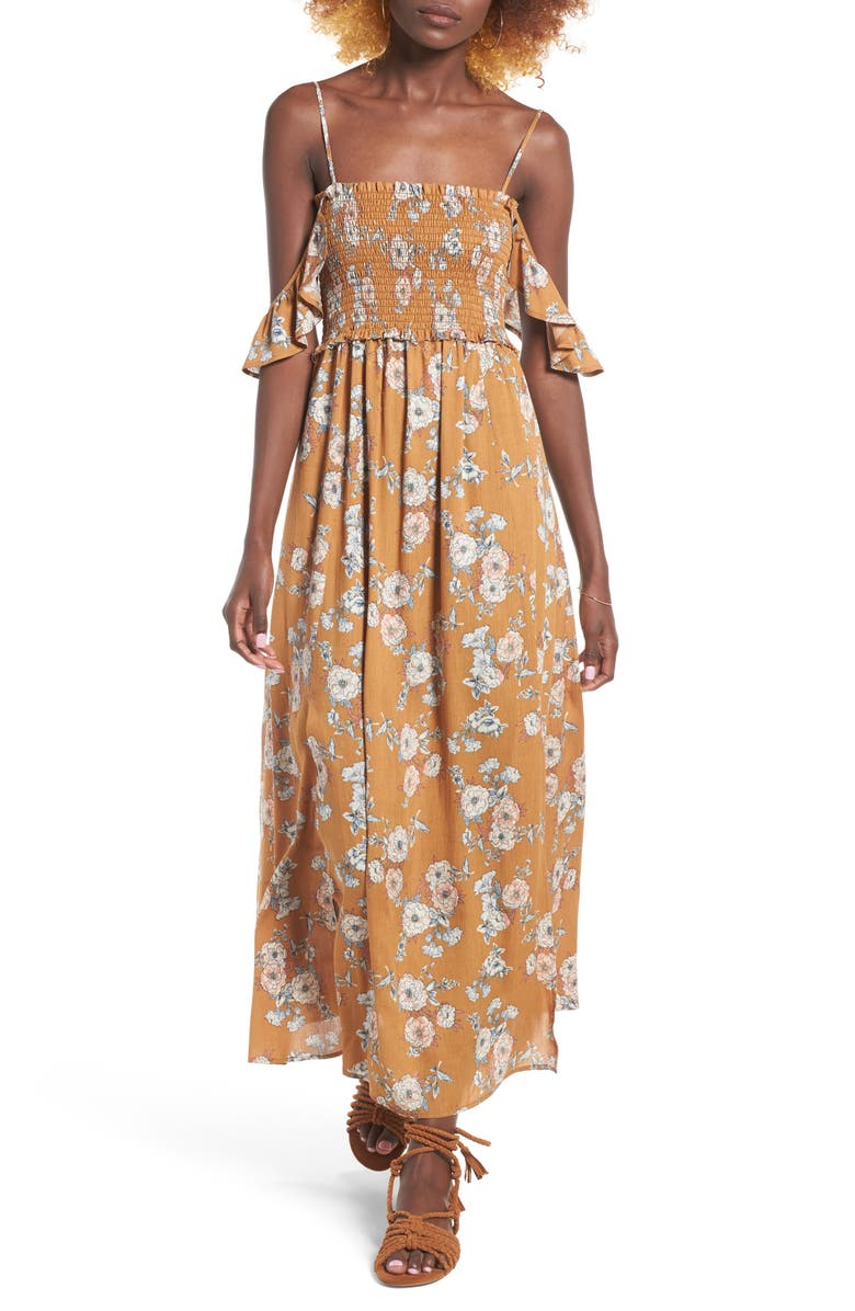 ASTR THE LABEL Gauze Maxi Dress, Main, color, 765