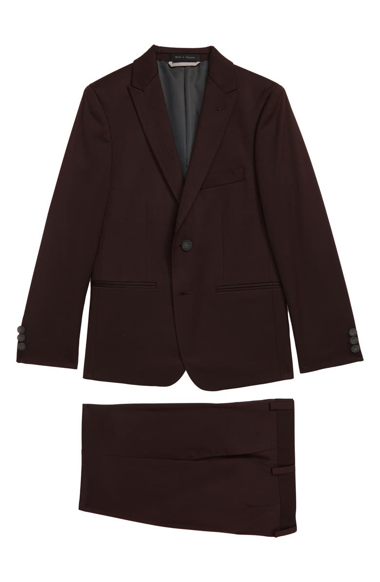 ANDREW MARC Neat Nested Suit, Main, color, BURGUNDY
