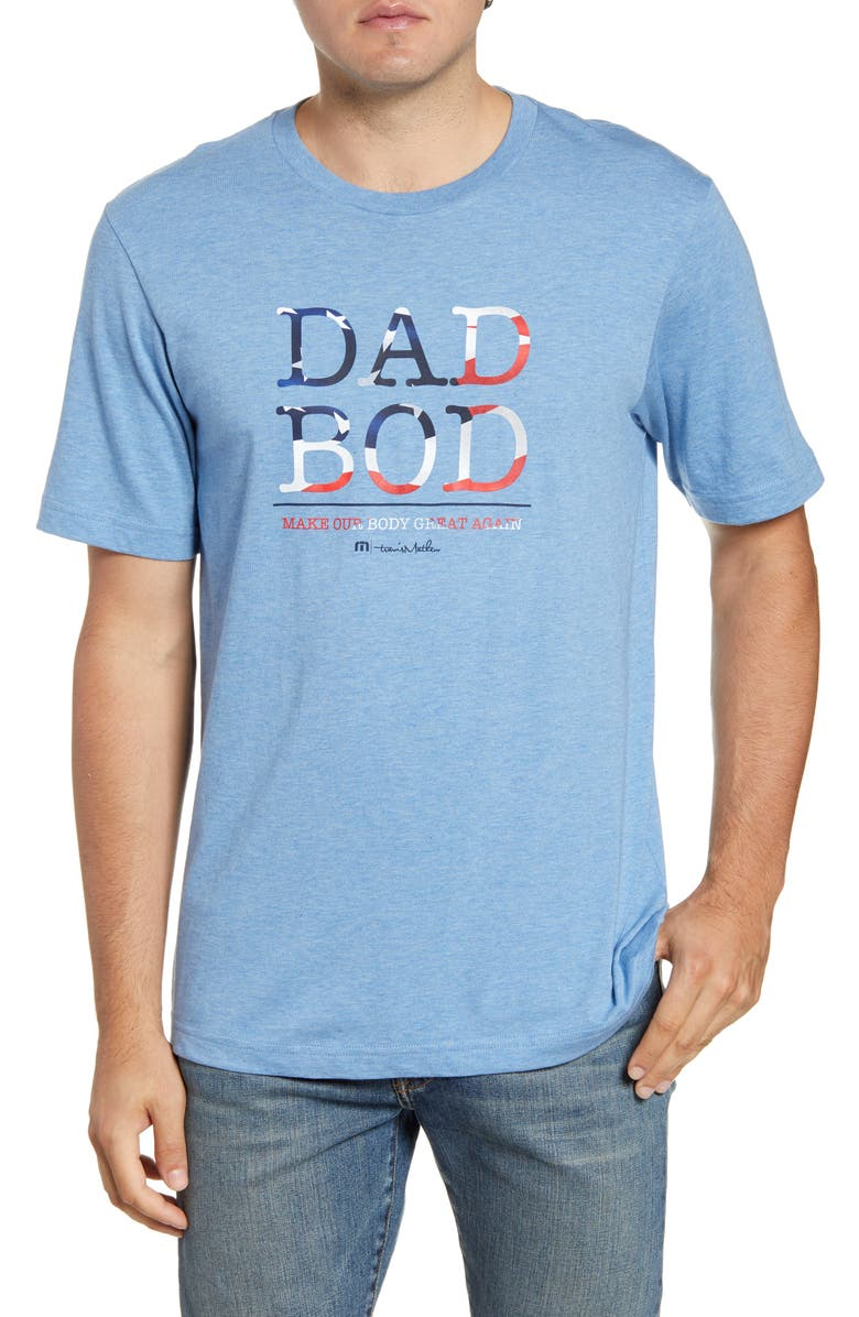 TRAVISMATHEW Dad Bod Regular Fit T-Shirt, Main, color, HEATHER BLUE WHITE