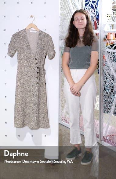 Kinsley Micro Print Wrap Dress, sales video thumbnail