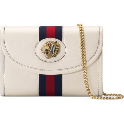 Gucci Mini Rajah Leather Crossbody Bag - White
