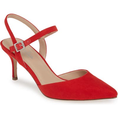 Charles By Charles David Ankle Strap Pump- Red