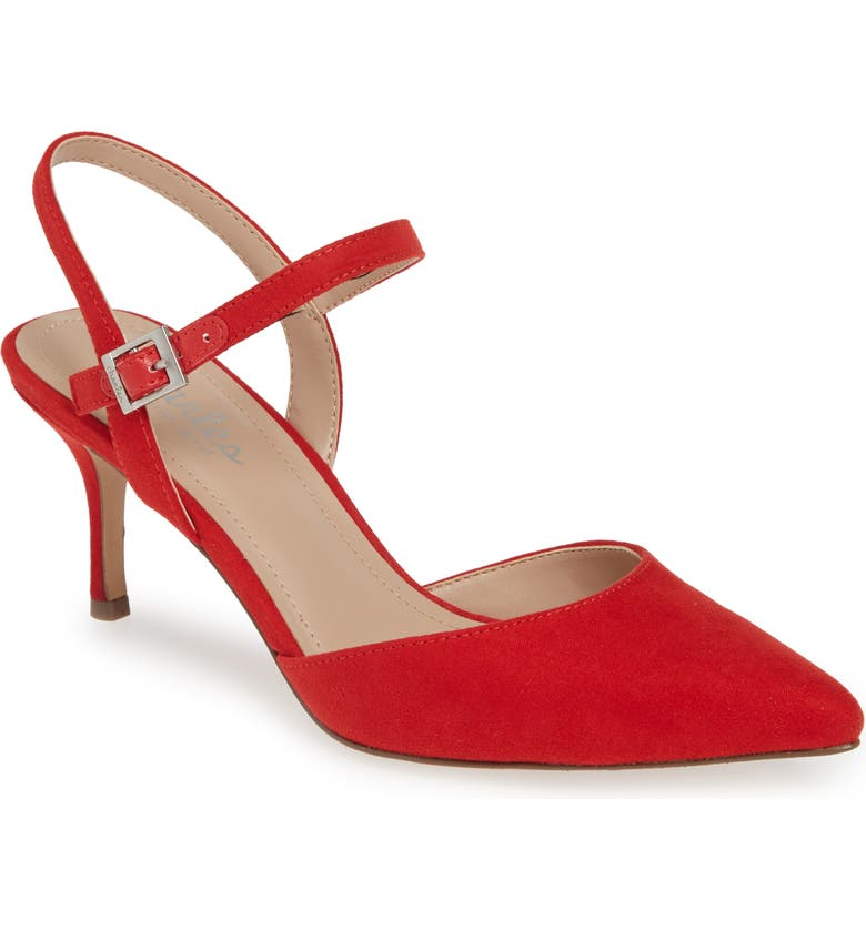 CHARLES BY CHARLES DAVID Ankle Strap Pump, Main, color, CANDY RED FABRIC