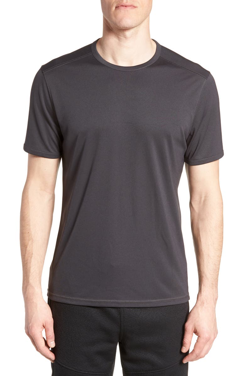 ZELLA Jonesite Crewneck T-Shirt, Main, color, BLACK OXIDE MELANGE
