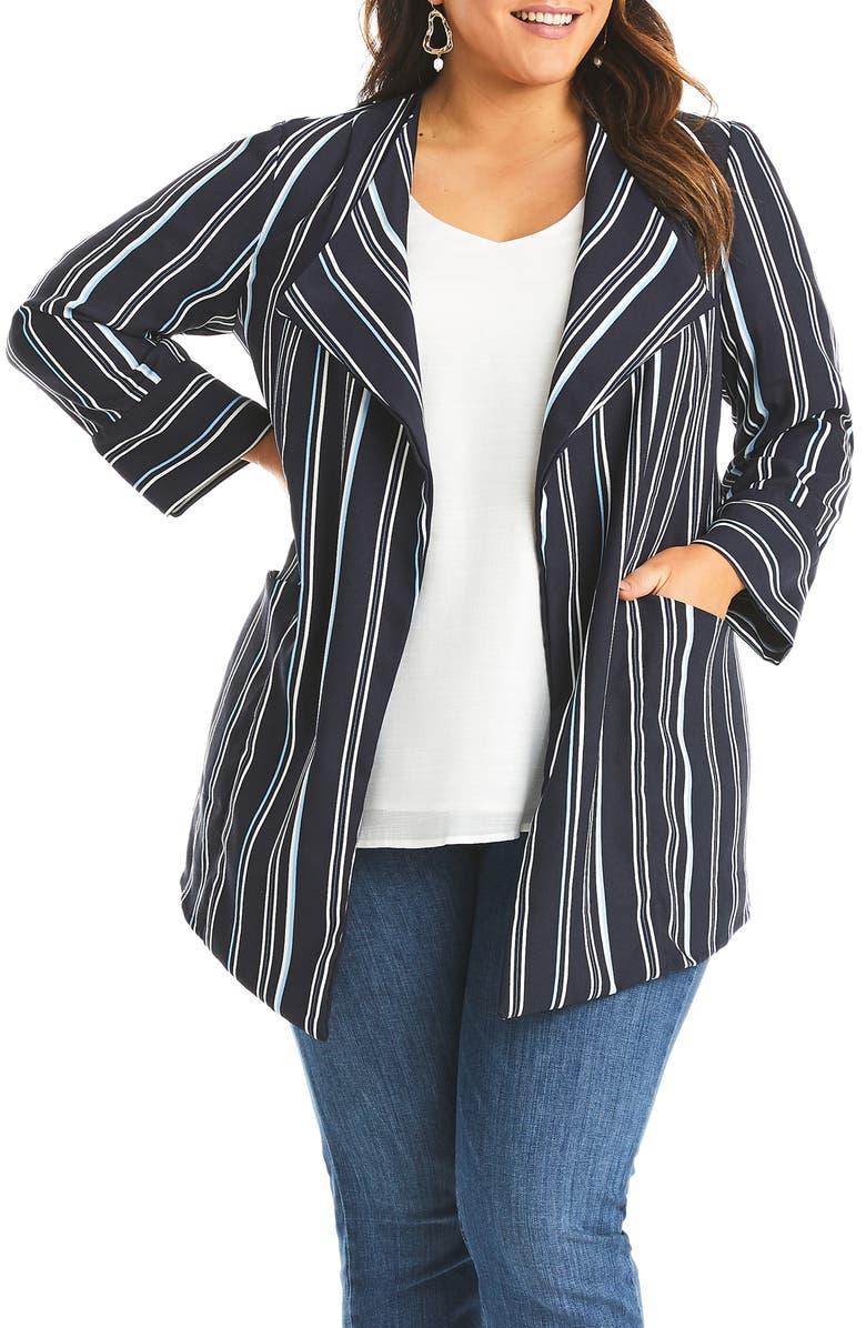 ESTELLE Sky Stripe Jacket, Main, color, PRINT