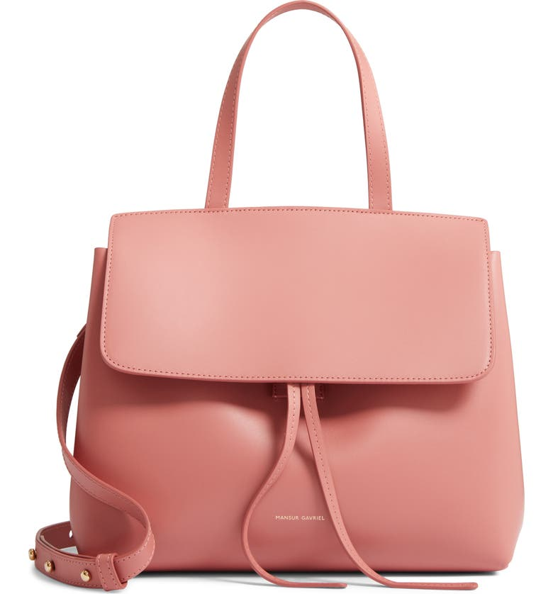 MANSUR GAVRIEL Mini Lady Leather Bag, Main, color, BLUSH