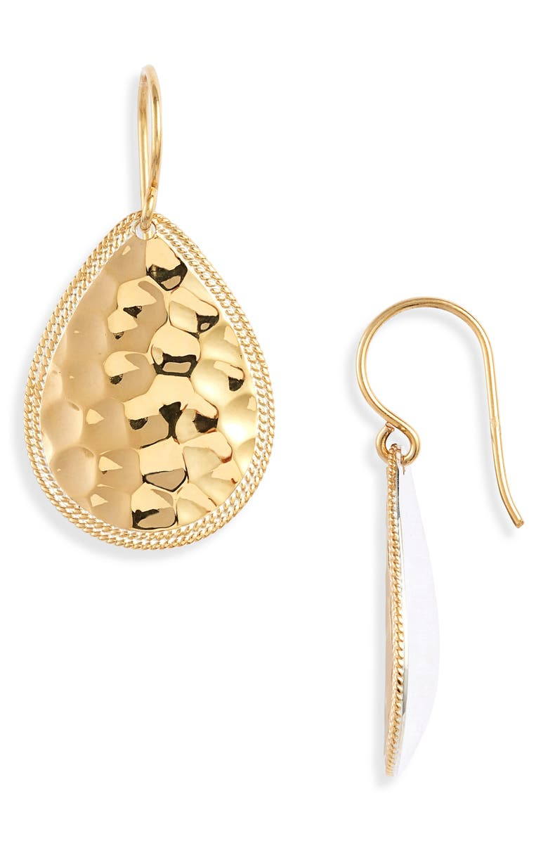 ANNA BECK Hammered Medium Drop Earrings, Main, color, 710
