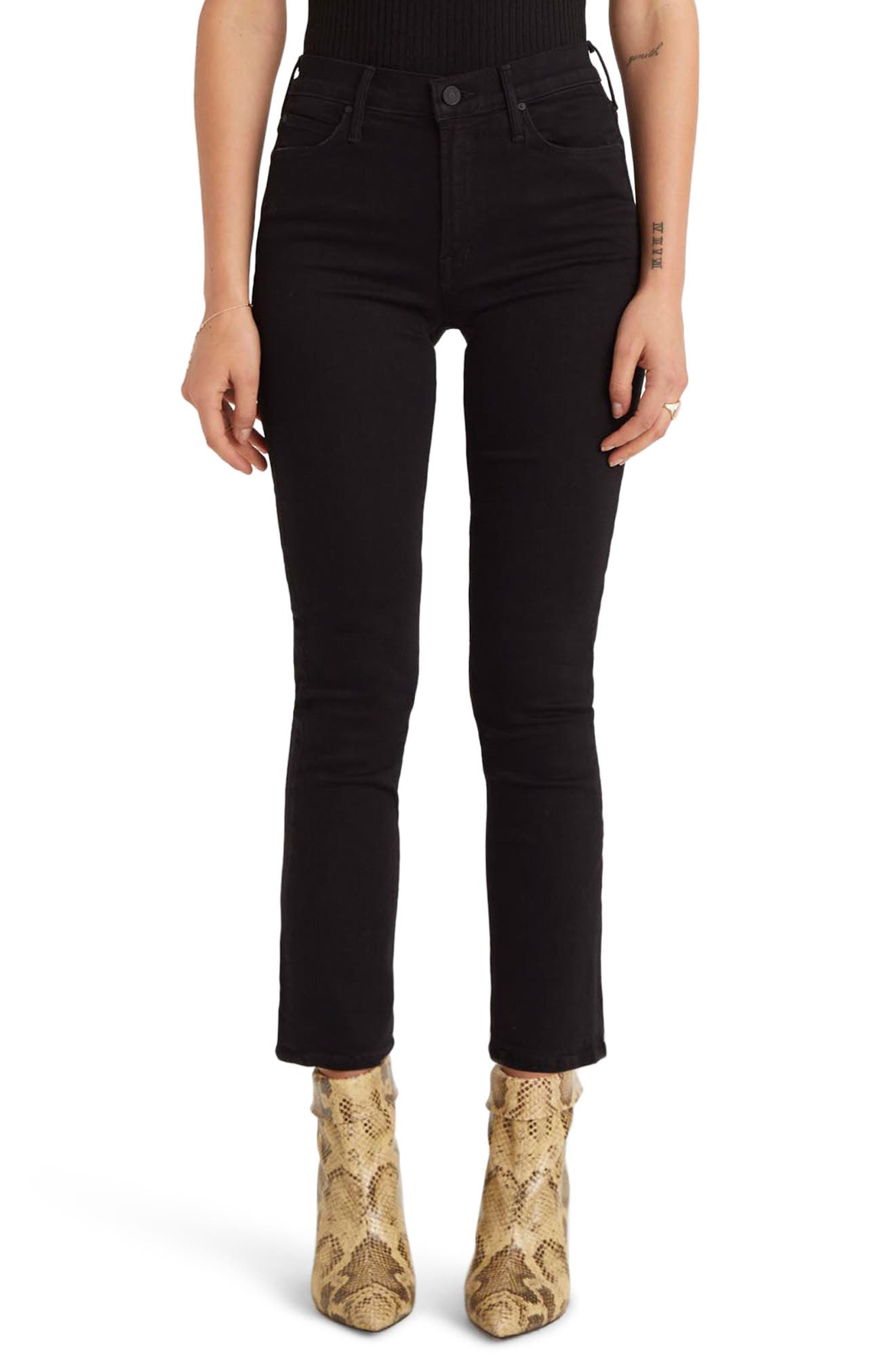 MOTHER The Dazzler Ankle Straight Leg Jeans (Not Guilty)
