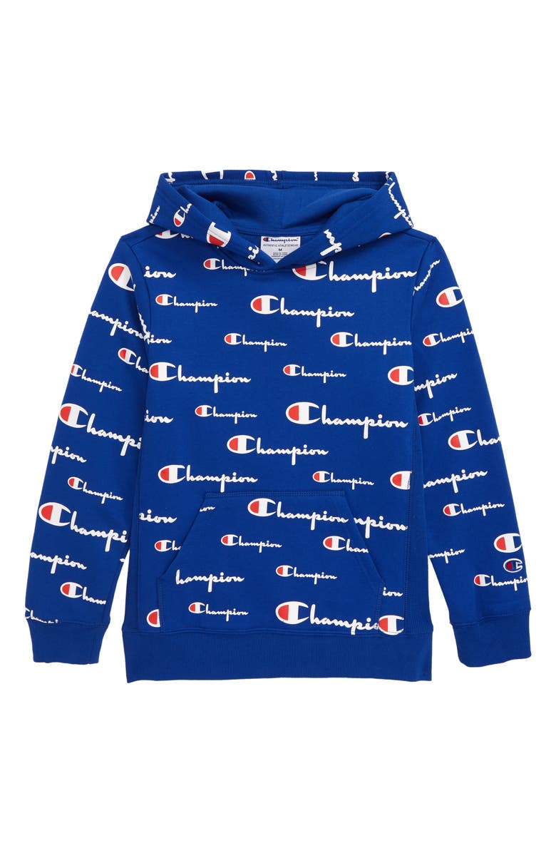 CHAMPION All Over Print Hoodie, Main, color, SURF THE WEB