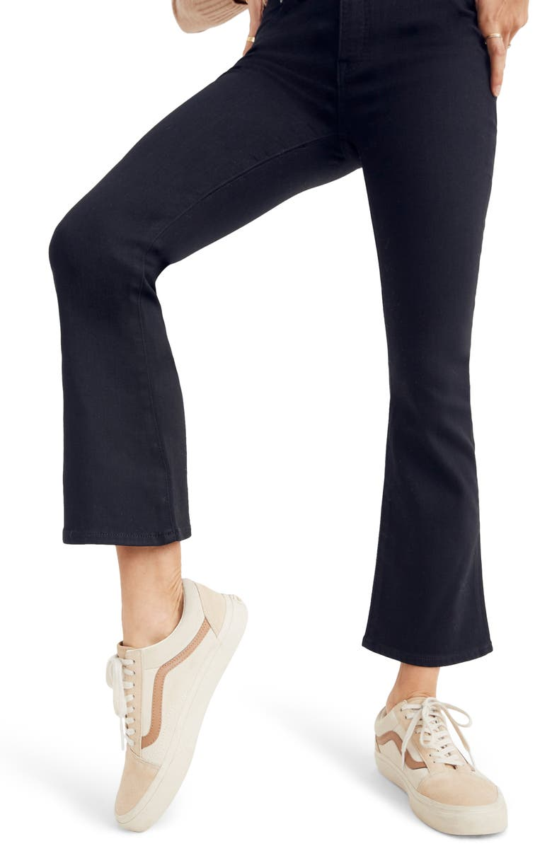 MADEWELL Cali Demi-Boot Jeans, Main, color, BLACK FROST