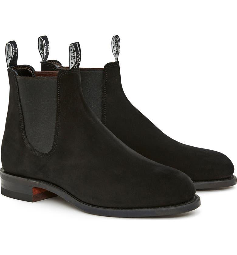R.M. WILLIAMS Comfort Turnout Chelsea Boot, Main, color, BLACK SUEDE