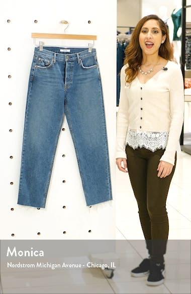 Helena High Waist Crop Straight Jeans, sales video thumbnail