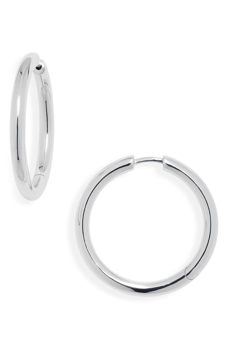 TOM WOOD Large Classic Hoop Earrings, Main, color, 925 STERLING SILVER
