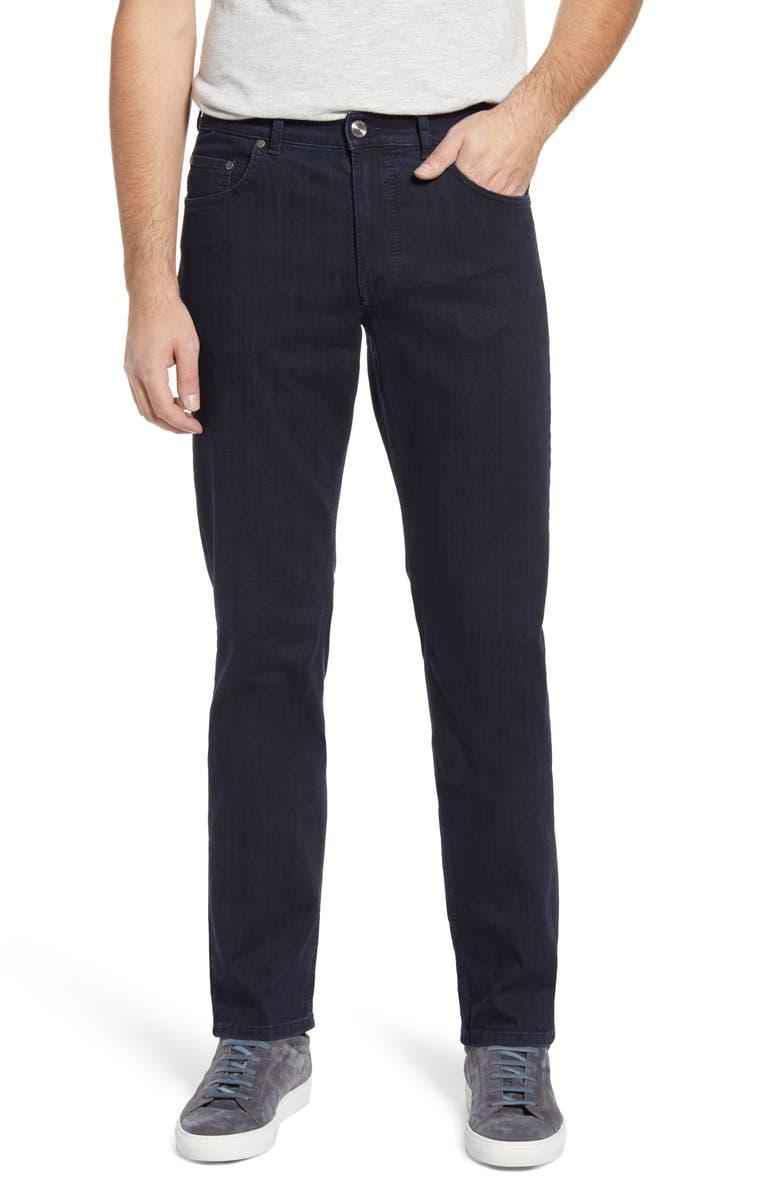 BRAX Cooper Pure Straight Leg Jeans, Main, color, BLUE BLACK