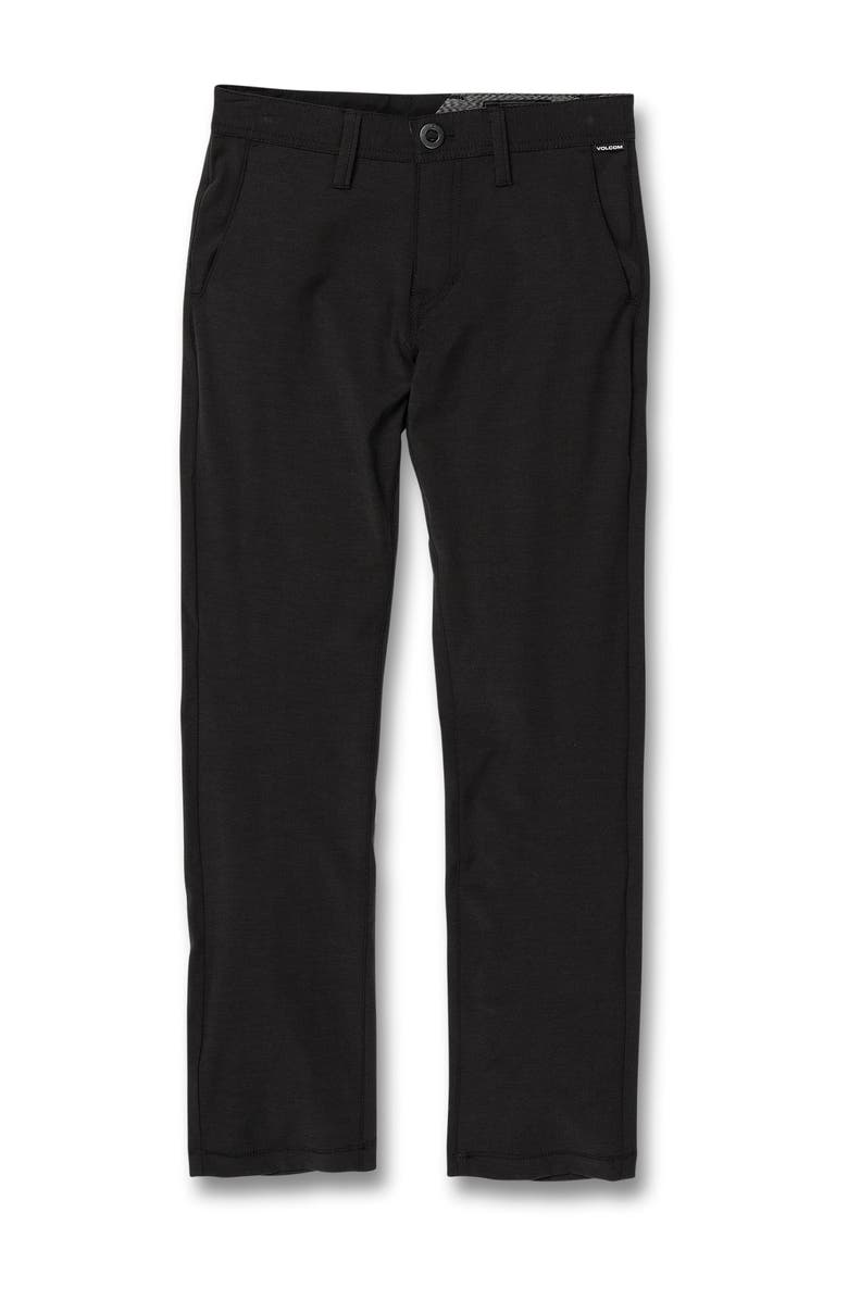 VOLCOM Front Button Static Pants, Main, color, BLACK OUT